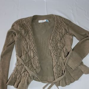 Anthropologie Sparrow Peplum Sweater Sz XL